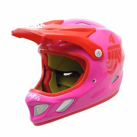 Casco Rosa Dama Mujer Bici Moto Downhill Enduro Montaña Cros