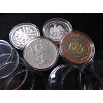 Capsula Para Moneda De 2 Onzas Y Medallas 48mm Y 50mm