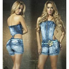 Enterizo Short En Jean Women Line Model