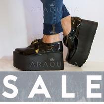 Zapatos Plataforma Mujer - Zueco Charol Moda Dama - Araquina
