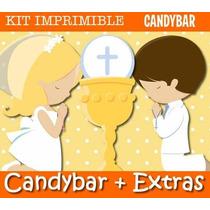 Kit Imprimible Primera Comunion 4 Diseños Nenes Y Nenas