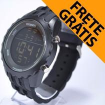 Relógio Masculino Preto Anti Shock Militar Esportivo Alarm
