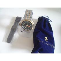 Relógio Atlantis Serie Ouro Pulseiras Aço