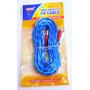 10 Cables Rca Audio 4,5mts Sonido Plantas Bajos Repro Carro