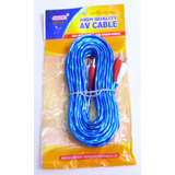10 Cables Rca 6mts Audio Sonido Planta Reproductor Carro