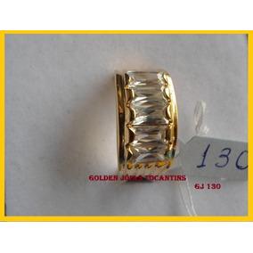Anel C/ Brilhante Mais Barato Ouro 18k Com 10 Camadas Gj 130