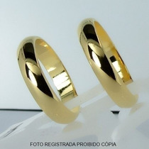 Aliança Ouro 18k 5mm Banho Frete Grátis Garantia Caixinha