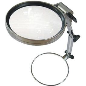 Lupa 130mm + Luz Fria Led + Soporte Trabajo Regulable Metal
