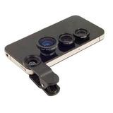 Kit De Lentes Universal Fisheye Macro Iphone, Galaxy, Outros