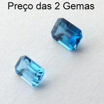 Topázio Natural Pedra Preciosa Cor Swiss Blue Preço Par 3087