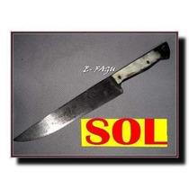 Cuchillo Sol Antiguo Vaina Cabo Guampa Negra No Broqua