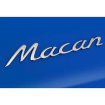 Emblema Traseiro Cromado Porsche Macan