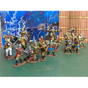 Lot 20 Fig 1/30 Caballeros & Warrior Rusos Medieval Ve Desc