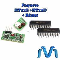 Paquete ( Codificador + Decodificador + Transmisor Rf433 )