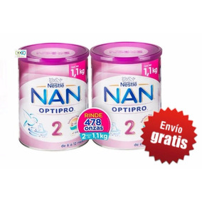 Fórmula Láctea Leche Nan2 2 Latas De 1.1 Kg Envio Gratis!