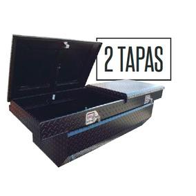 Caja Herramientas De Aluminio Tipo Baul De 52 Negro 2 Tapas