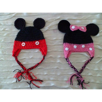 Gorro Mickey / Minnie - Crochet