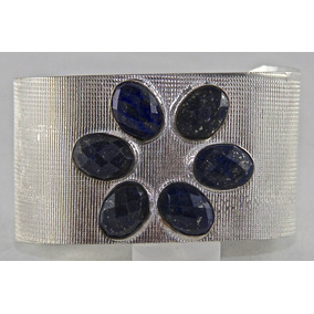 Rsp J773 Belle Nature Bracelete De Prata 925 Safiras Azuis