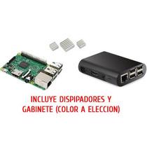 Combo Rs Raspberry Pi 3 + Gabinete + 3 Disipadores Uk