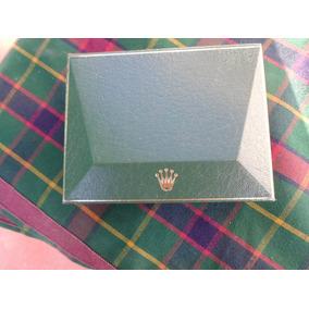 Caja Estuche Rolex Geneve Suisse 1100.2 Forrado En Cuero