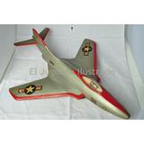 Antiguo Avion Madera Grande Militar Caza Usa Dec 60 Juguete