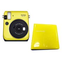 Câmera Instantânea Fujifilm Instax Mini 70 + Álbum - Amarela