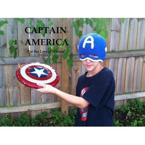 Touca De Crochê Do Capitão América Vingadores - Art Crochê