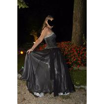 Vestido Negro De 15 Años, Unico. Diseño De Ana Beatriz Soto