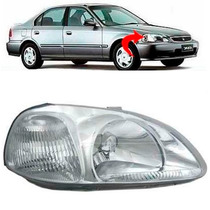Farol Honda Civic Lado Direito Ano 1996 1997 1998
