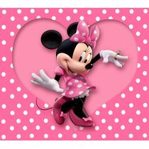 Painel De Festa Aniversário Minnie Rosa 1,50 X 2,00m