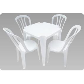 Conjunto De Mesas E Cadeiras De Plástico Goiania Unica 180kg