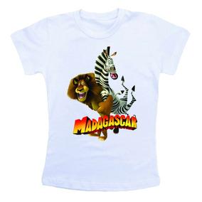 Camiseta Infantil Madagascar Bn321