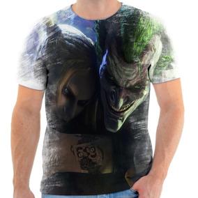 Camiseta Camisa Personalizada Coringa Arlequina Frete Grátis