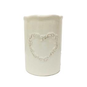 Porta Escova De Dente Porcelana Branca Ø 7cm