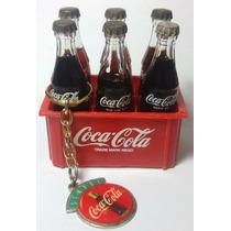 Mini Engradado Coca-cola C/ 06 Mini Garrafinhas + Brinde.