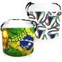 Cooler Caixa Térmica 24 Lata Cerveja Bebida Copa Brasil Fifa