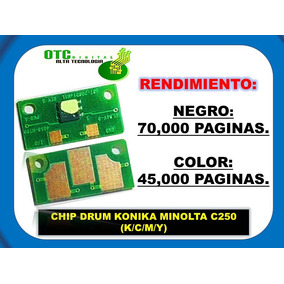 Chip Drum Konica Minolta C250 C252 Resetear Unidad De Imagen
