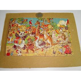 Antiguo Rompecabezas Animalitos. Las Piezas Son De Madera