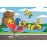 Adesivo Papel Parede Painel Quarto Hommer Bart Simpsons M03