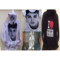Paquete Justin Bieber Sudadera Playeras Y Cojin