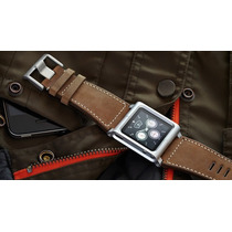 Pulseira Relógio Lunatik Chicago Couro Para Apple Ipod 6 / 7