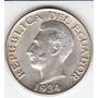 Ecuador, Antigua Moneda De Plata 0,720 Un Sucr 1.934 Vf++