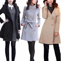 Gaban Jacket Mujer Thicken Warm Woolen Trench Coat Parka O