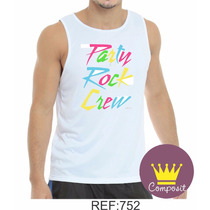 Regata Camisa Lmfao Party Rock Crew Adulto Banda 01