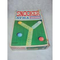 Brinquedo Antigo, Snooker Da Atma Na Caixa Com Manual.
