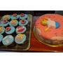 Torta Cupcakes Cumpleaños Decoradas Caseras Simpsons Homero