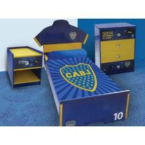 Muebles Dormitorio Completo - Boca Juniors Original