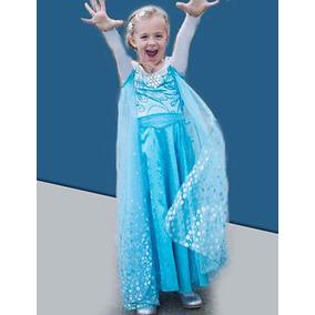 Vestido Elsa Para Bebe, Tallas 2-3 Años
