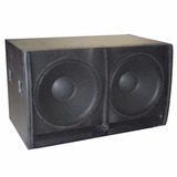 Subwoofer Bajo Doble 2x18 Pasivo 1200w Rms Triplay De 19mm