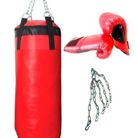 Bolsa De Boxeo + Guantines + Cadenas! Kit Boxeo Full Box